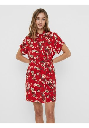 Shirt dress - goji berry