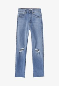 PULL&BEAR - MIT RISSEN - Jeansy Relaxed Fit - blue - 6