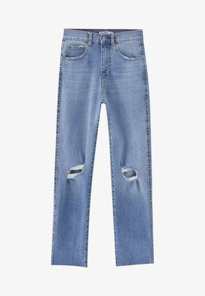 MIT RISSEN - Jeansy Relaxed Fit - blue