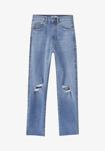 MIT RISSEN - Relaxed fit jeans - blue
