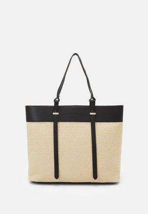 FREYA PANELLED TOTE BAG - Shopper - black/straw