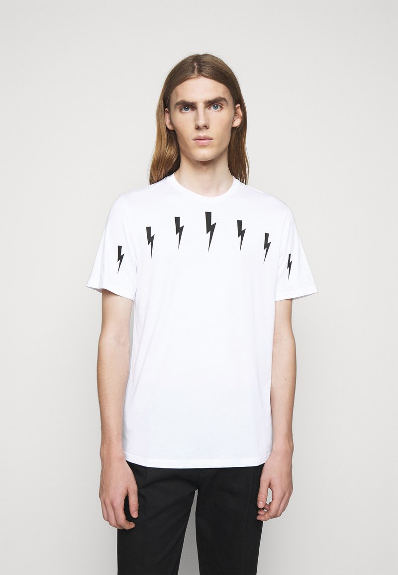 Neil Barrett - HALO BOLTS - T-shirts med print - white/black