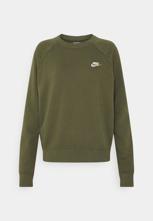 CREW - Sweatshirts - medium olive/white