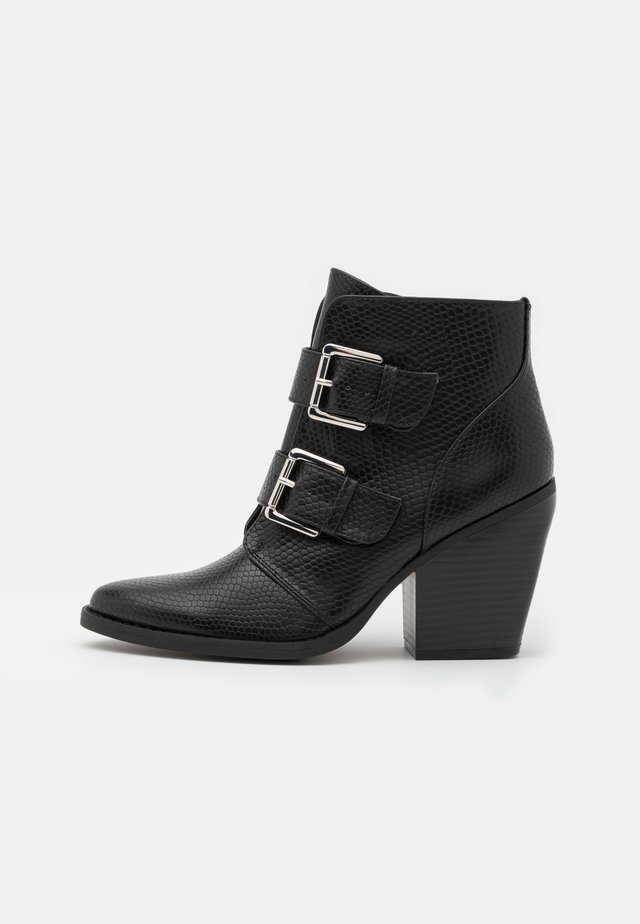 CALISTA - Bottines à talons hauts - black