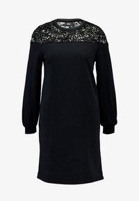 ONLCATALINA O-NECK  PLAIN DRESS - Denní šaty - black