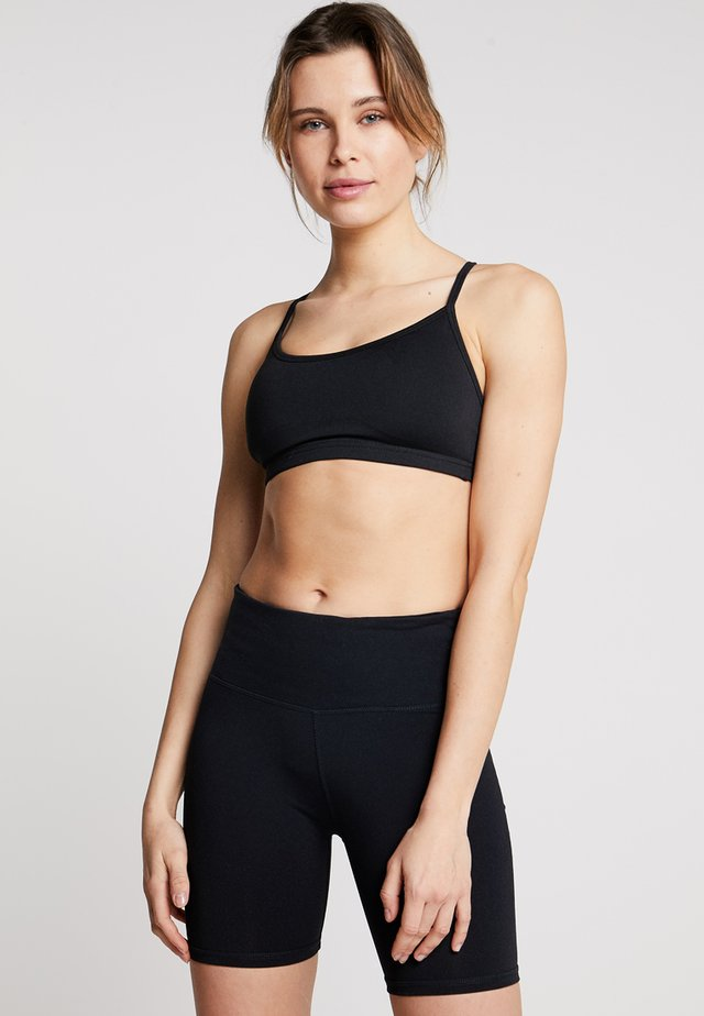 WORKOUT YOGA CROP - Sport-bh met light support - black
