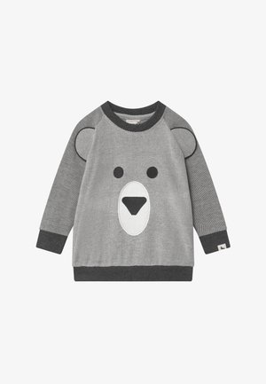 BEAR FACE - Mikina - dark grey/off-white
