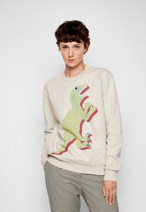LARGE DINO PRINT - Športni pulover - ivory