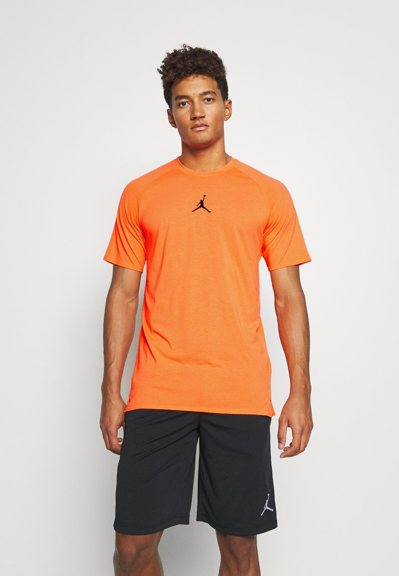 Jordan - AIR - Print T-shirt - total orange/black