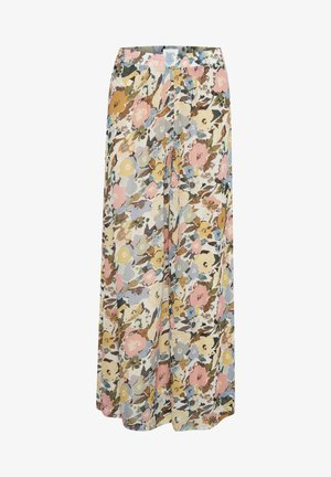 HUISZ - Trousers - b. white big optimism floral