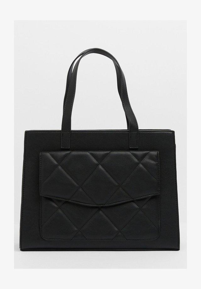 MIT STEPPMUSTER - Velká kabelka - black