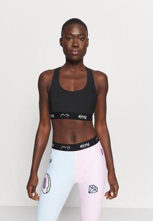 SHORTY SPORTS BRA - Medium support sports bra - black