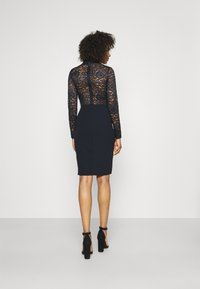 WAL G. - SONIA LACE DETAIL MIDI DRESS - Cocktail dress / Party dress - navy blue - 2