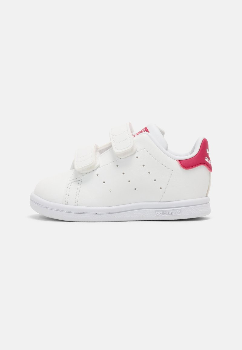 adidas Originals - STAN SMITH UNISEX - Trainers - white/bold pink
