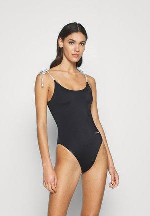 SCOOP BACK ONE PIECE - Swimsuit - black