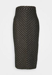 Pinko - GAS SKIRT - Pencil skirt - verde/nero/rame - 0