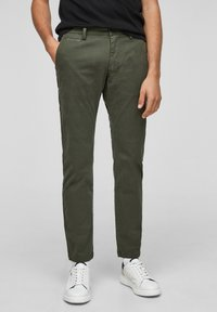 s.Oliver - Trousers - olive - 0