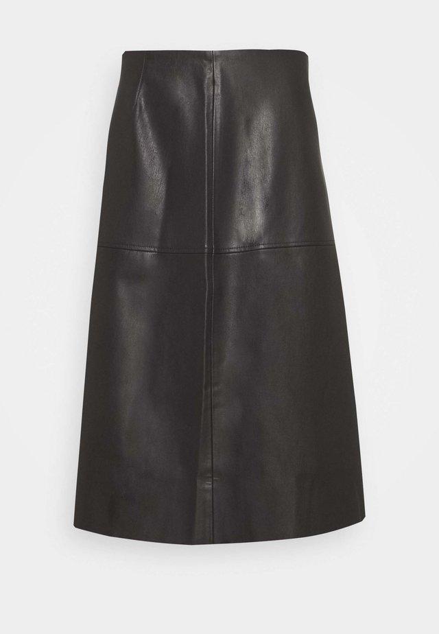 OMALO - A-line skirt - black