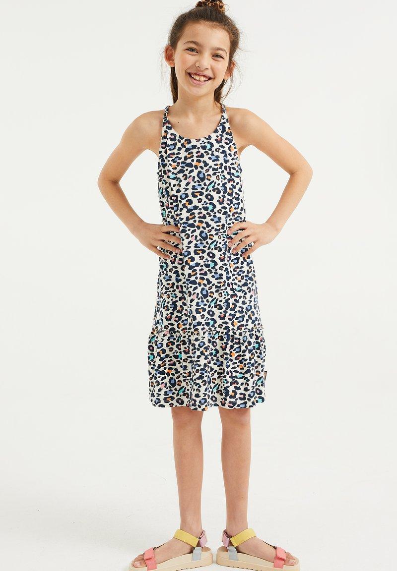WE Fashion - MET PANTERDESSIN - Jersey dress - multi-coloured