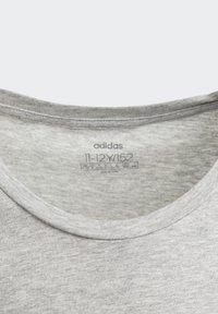 adidas Performance - ESSENTIALS LINEAR T-SHIRT - T-shirt z nadrukiem - grey - 2