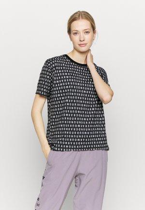 LOGO PRINT LIVE - T-shirt imprimé - black/white