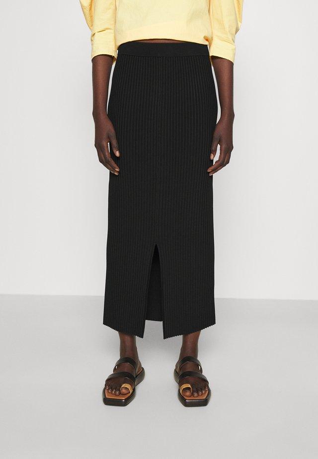 OCTO - Pencil skirt - black