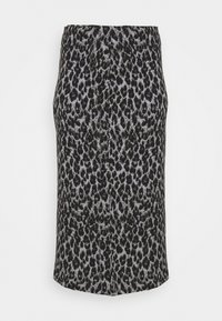 CAPSULE by Simply Be - LEOPARD PRINT TUBE SKIRT - Mini skirt - black/grey - 4