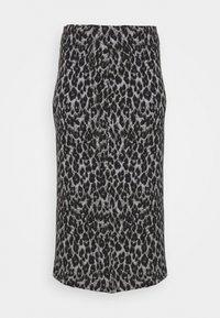 LEOPARD PRINT TUBE SKIRT - Minifalda - black/grey