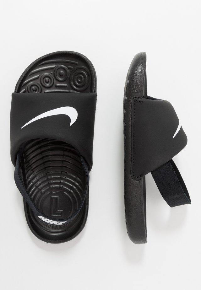 KAWA SLIDE - Sandales de bain - black/white