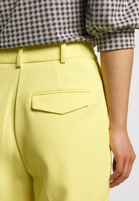 Topshop Petite - CLEAN STRAIGHT TROUSERS - Trousers - yellow - 4