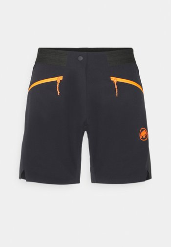 SERTIG  - Pantaloncini sportivi - black/vibrant orange