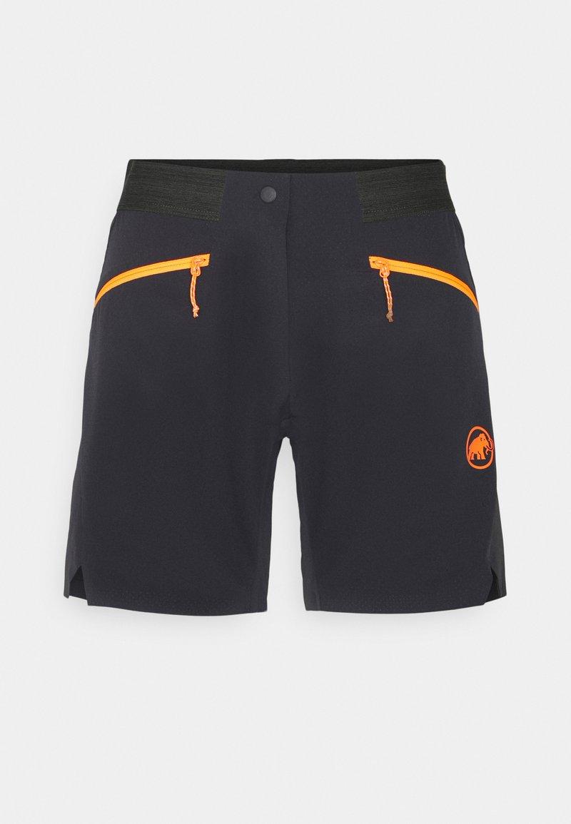Mammut - SERTIG  - Pantaloncini sportivi - black/vibrant orange