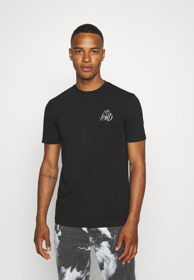 CROSBY TEE - T-shirt print - jet black/asphalt