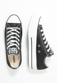 Converse - CHUCK TAYLOR ALL STAR LIFT GLITTER - Joggesko - black/white - 3