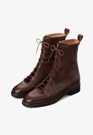 TZAVA  - Lace-up ankle boots - deep brown
