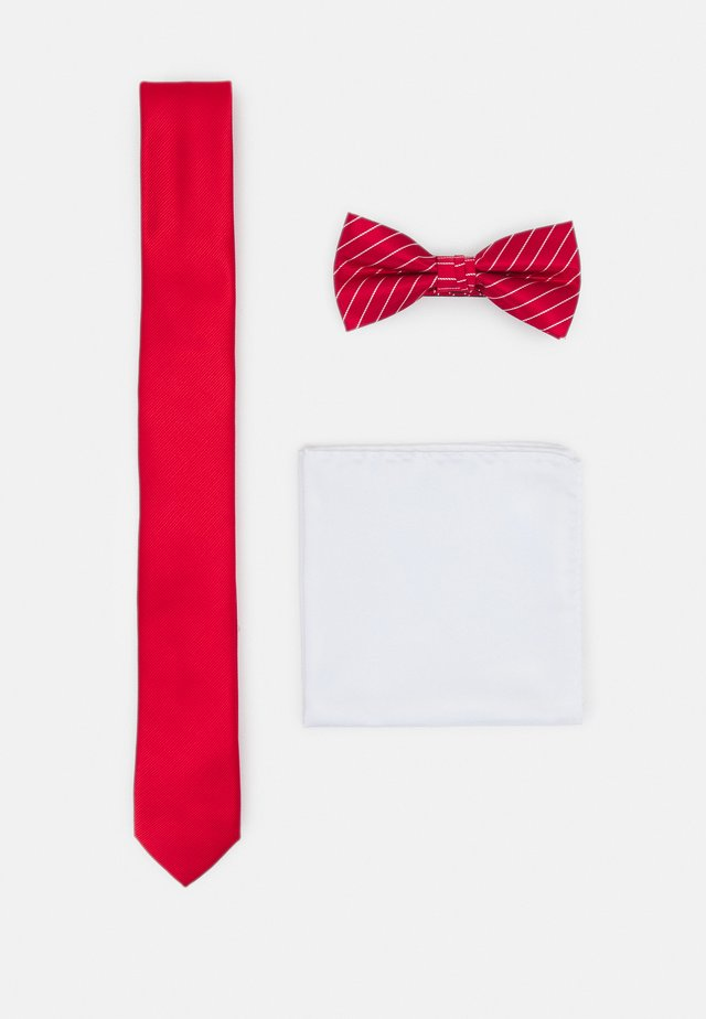 JACSTRIPY NECKTIE SET - Tie - red bud