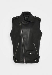 Missguided Petite - BIKER GILET - Waistcoat - black - 0