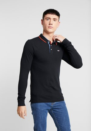STRETCH LONGSLEEVE  - Polo shirt - black