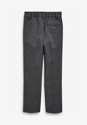 BLACK PLEAT FRONT SLIM FIT TROUSERS (3-16YRS) - Trousers - grey