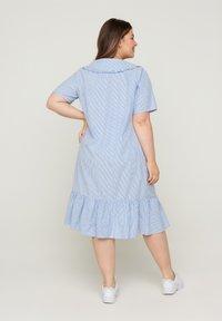 Zizzi - Blousejurk - blue stripe - 1