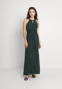 Vila - VIMILINA HALTERNECK MAXI DRESS - Occasion wear - darkest spruce - 0