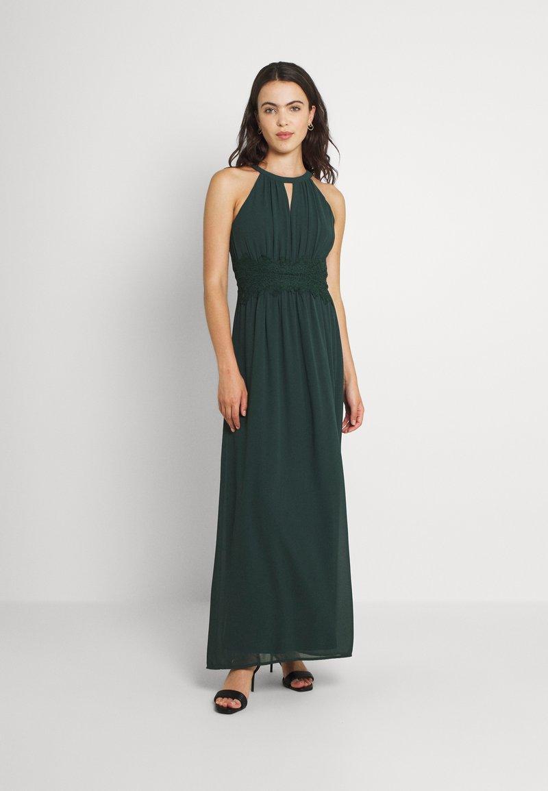 Vila - VIMILINA HALTERNECK MAXI DRESS - Occasion wear - darkest spruce
