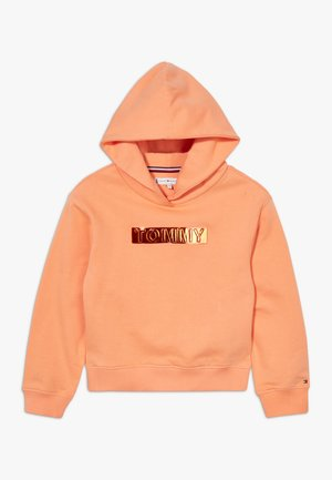 FOIL LABEL HOODIE - Mikina s kapucí - orange
