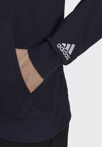 adidas Performance - ESSENTIALS FRENCH TERRY LINEAR LOGO HOODIE - Hoodie - blue - 4