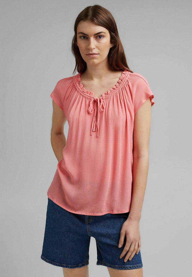 Esprit - BLOUSE - Print T-shirt - coral