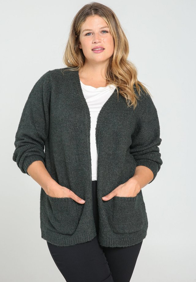 WARME MIT GLITZEREFFEKT - Cardigan - green