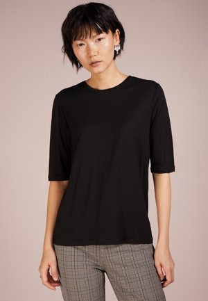 TENCEL ELBOW SLEEVE - Jednoduché triko - black