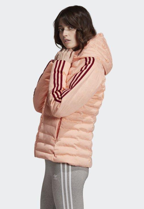 MONOGRAM SLIM JACKET Vinterjacka pink