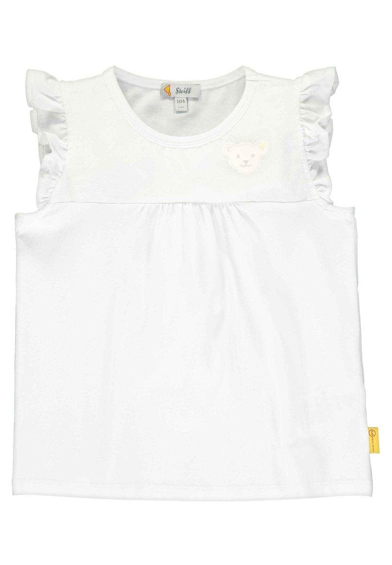 Steiff Collection - STEIFF COLLECTION T-SHIRT MIT SÜSSEN FLÜGELÄRMELN - Print T-shirt - bright white