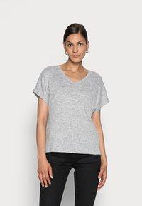 Opus - SABLET - Basic T-shirt - easy grey - 0